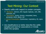 text mining our context