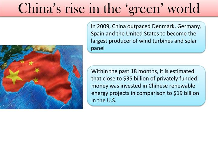 China's rise in the 'green' world