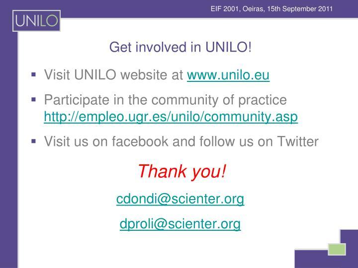 Get involved in UNILO!