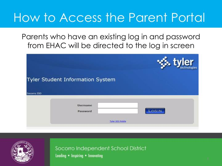How to Access the Parent Portal
