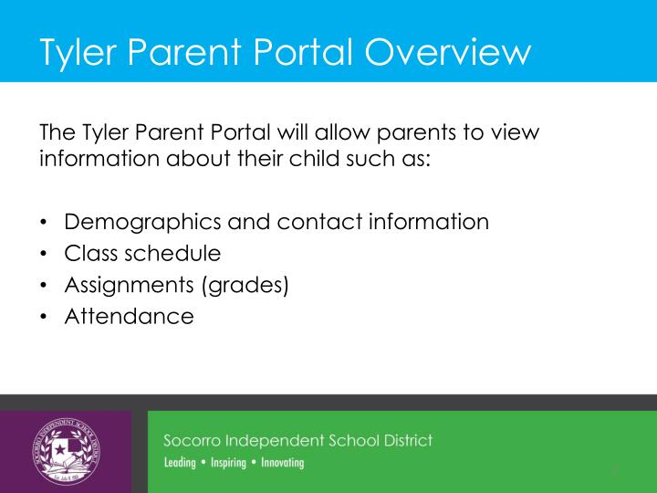 Tyler parent portal overview