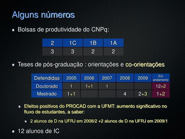 Alguns números