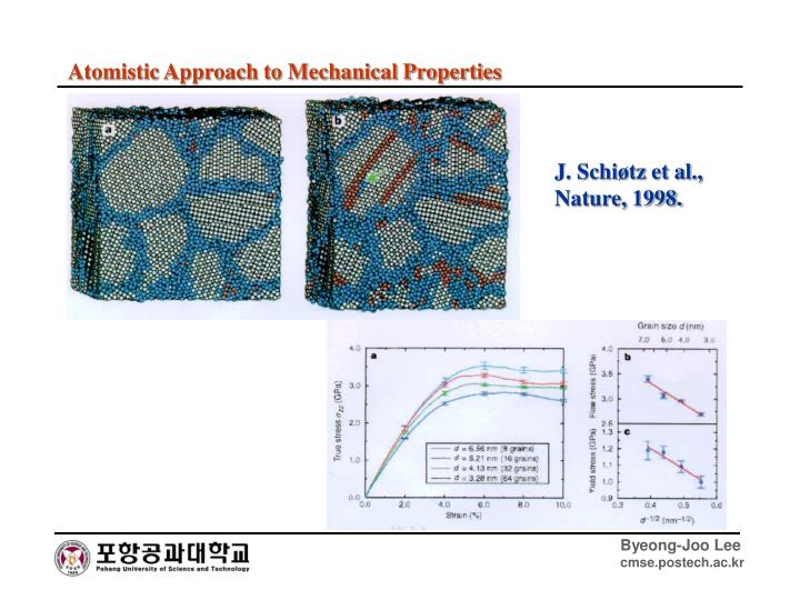 Atomistic Approach to Mechanical Properties
