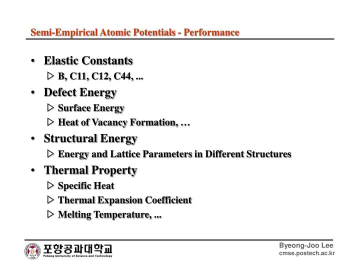Elastic Constants