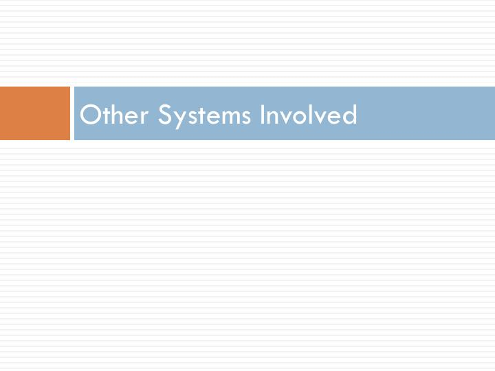 Other Systems Involved
