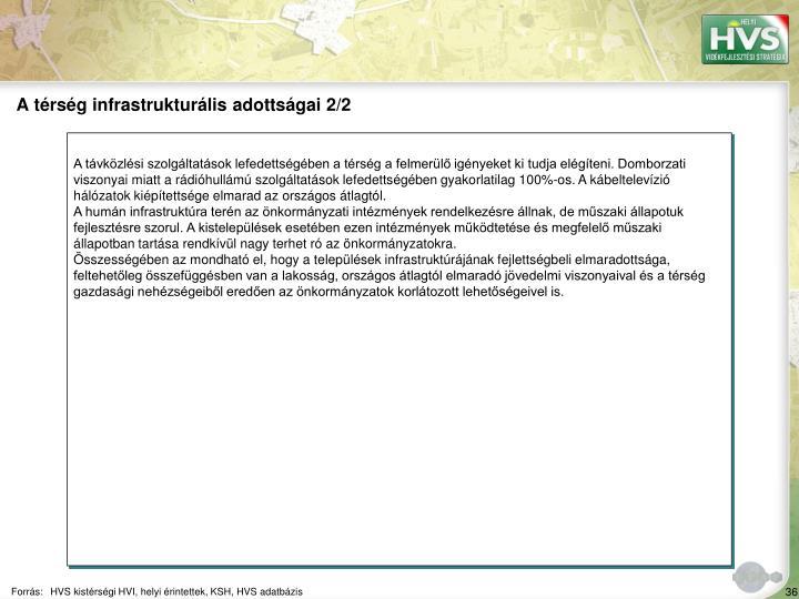A trsg infrastrukturlis adottsgai 2/2
