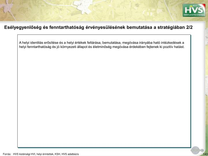 Eslyegyenlsg s fenntarthatsg rvnyeslsnek bemutatsa a stratgiban 2/2