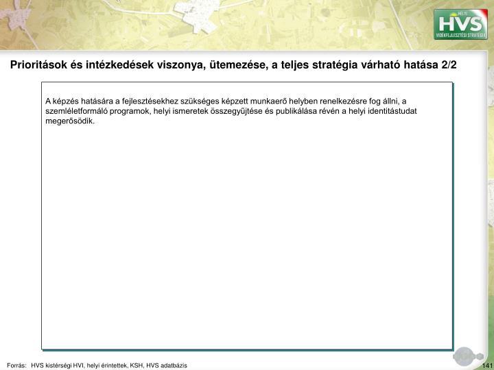 Prioritsok s intzkedsek viszonya, temezse, a teljes stratgia vrhat hatsa 2/2