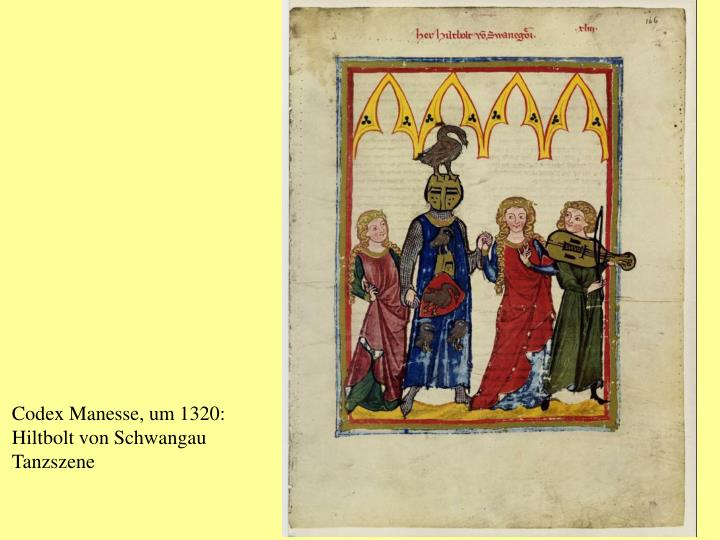 Codex Manesse, um 1320: