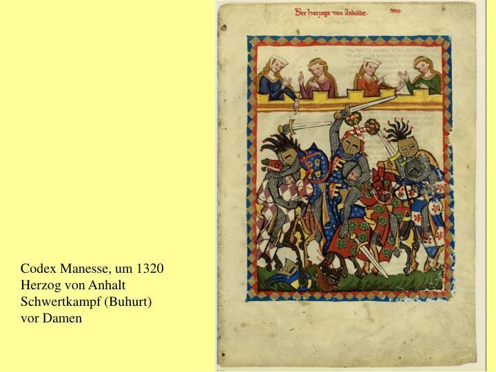 Codex Manesse, um 1320