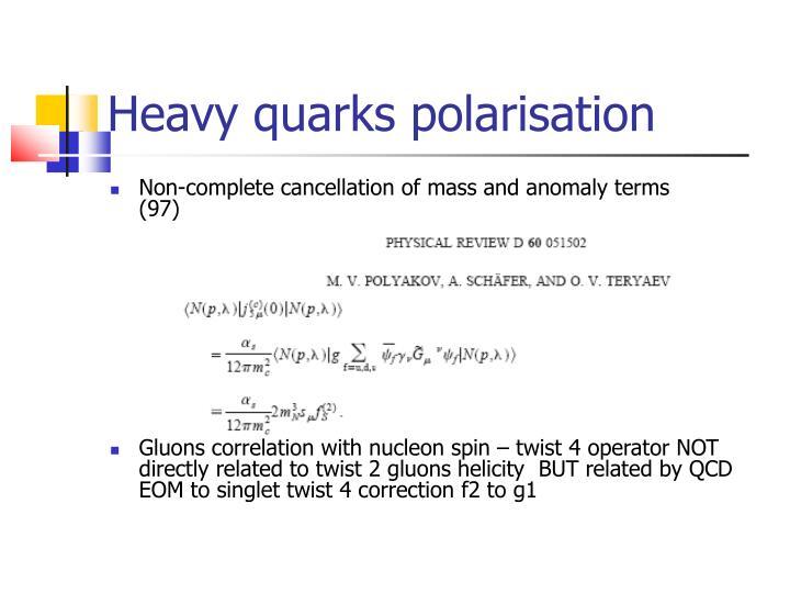 Heavy quarks polarisation