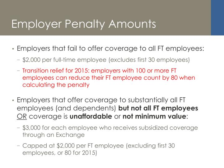 Employer Penalty Amounts
