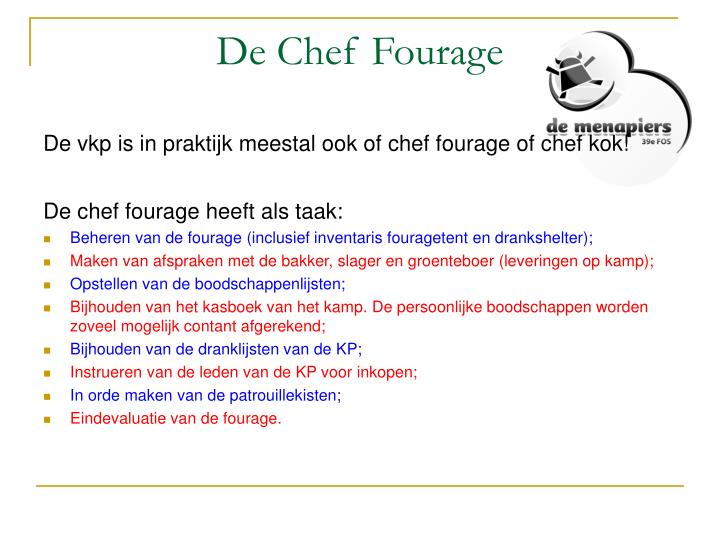 De Chef Fourage