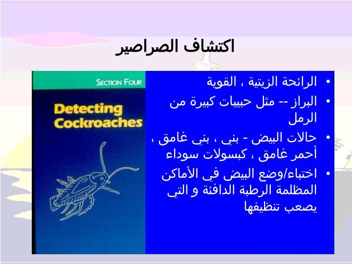 اكتشاف الصراصير