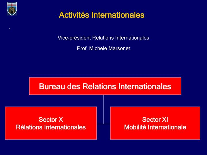 Activits Internationales