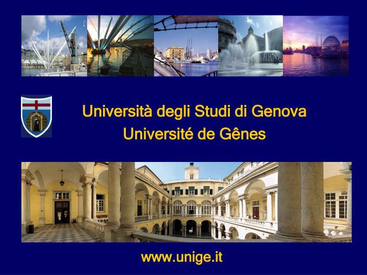 Universit degli Studi di Genova