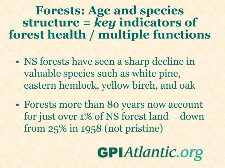 Forests: Age and species structure =