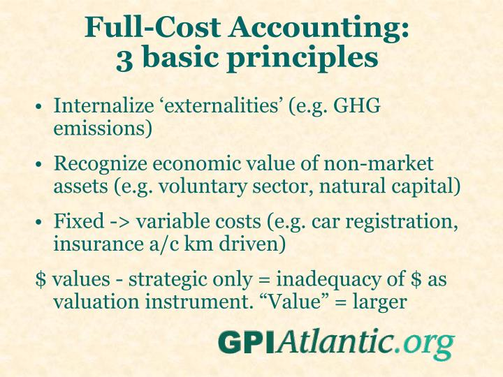 Full-Cost Accounting: