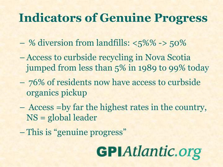 Indicators of Genuine Progress