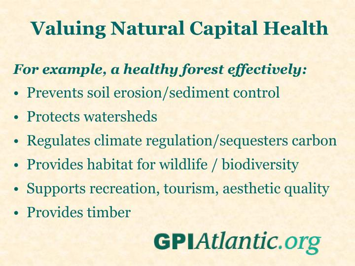 Valuing Natural Capital Health