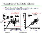 charged current quasi elastic scattering