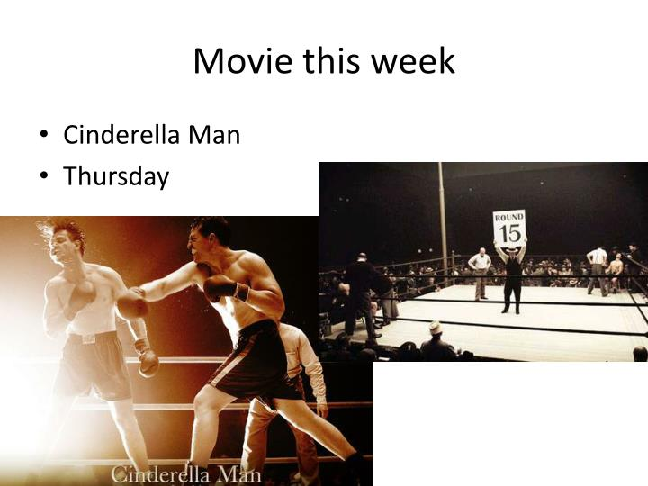 Movie this week