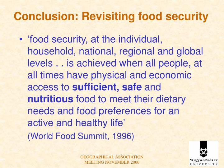Conclusion: Revisiting food security