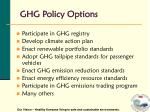ghg policy options