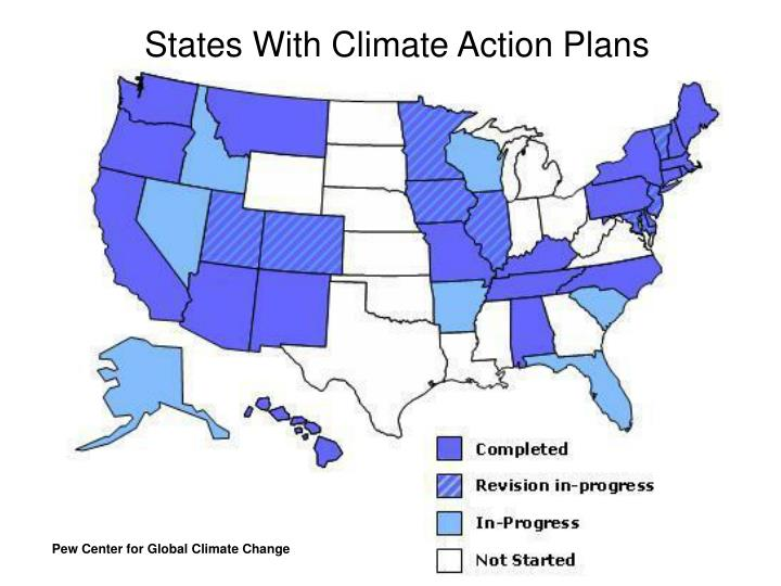 States With Climate Action Plans