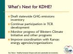what s next for kdhe