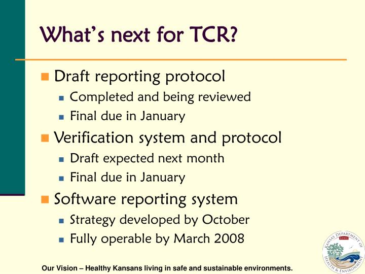 What's next for TCR?