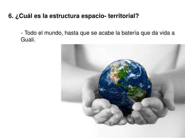 6. ¿Cuál es la estructura espacio- territorial?