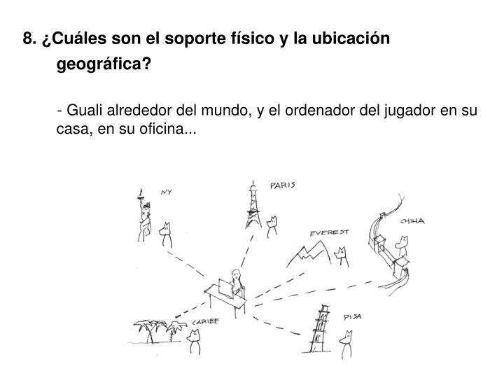 8. ¿Cuáles son el soporte físico y la ubicación geográfica?