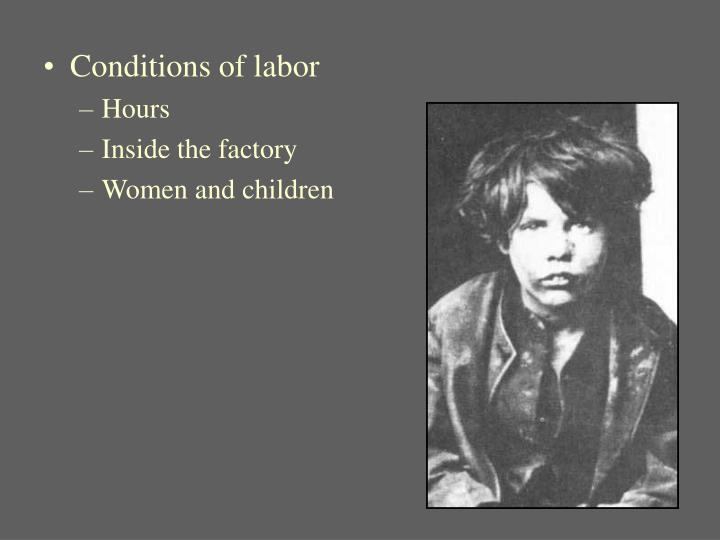 Conditions of labor