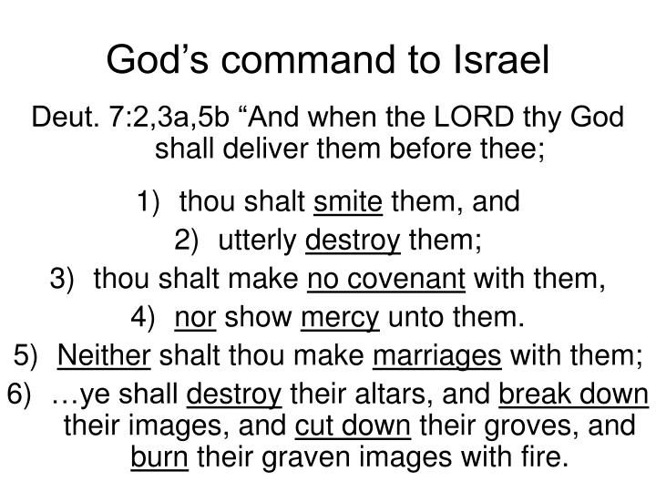 God's command to Israel