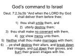 god s command to israel