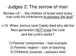 judges 2 the sorrow of man3