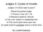 judges 3 cycles of trouble