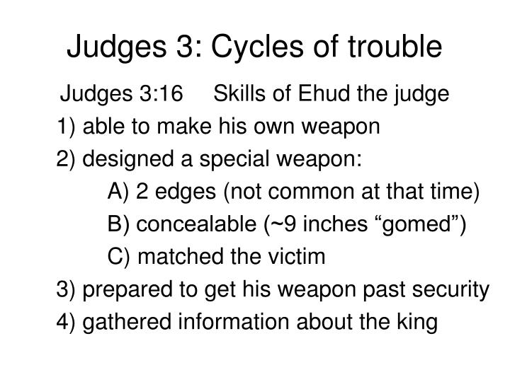 Judges 3: Cycles of trouble
