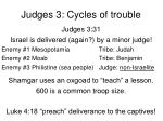 judges 3 cycles of trouble3