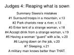 judges 4 reaping what is sown