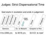 judges strict dispensational time