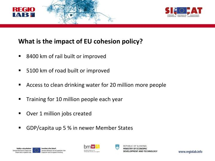What is the impact of EU cohesion policy?