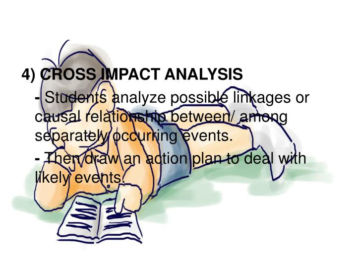 4) CROSS IMPACT ANALYSIS