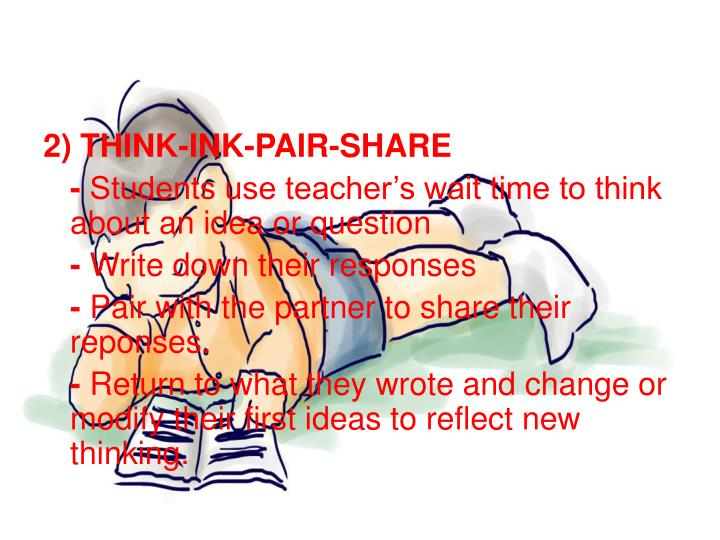 2) THINK-INK-PAIR-SHARE