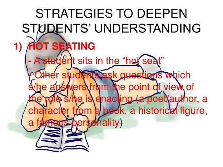 STRATEGIES TO DEEPEN STUDENTS' UNDERSTANDING