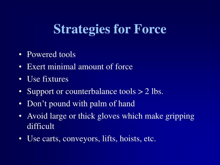 Strategies for Force