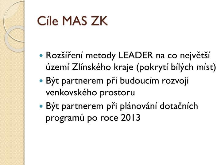 Cíle MAS ZK