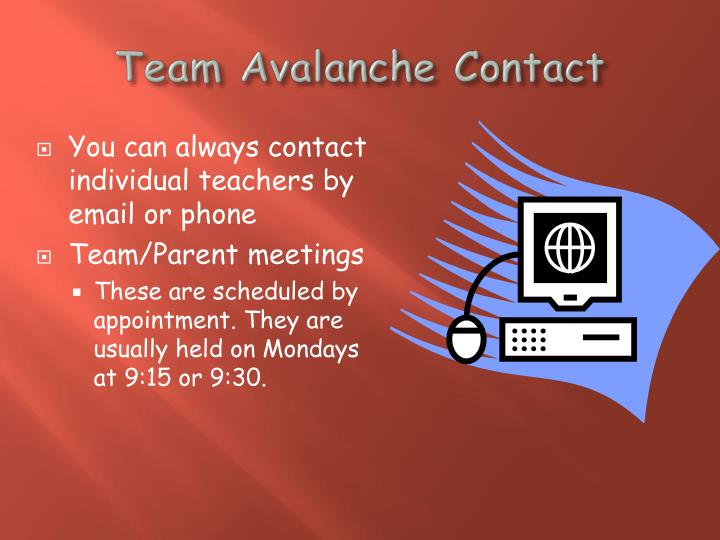 Team Avalanche Contact