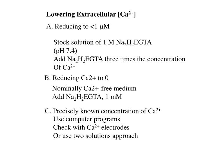 Lowering Extracellular [Ca